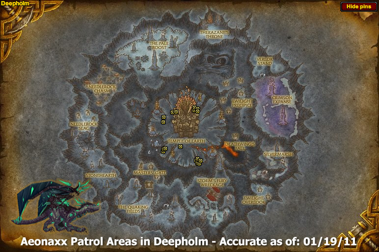Aeonaxx Patrol Map - Reins of the Phosphorescent Drake