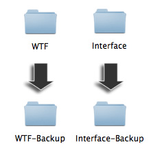 Rename your existing folders