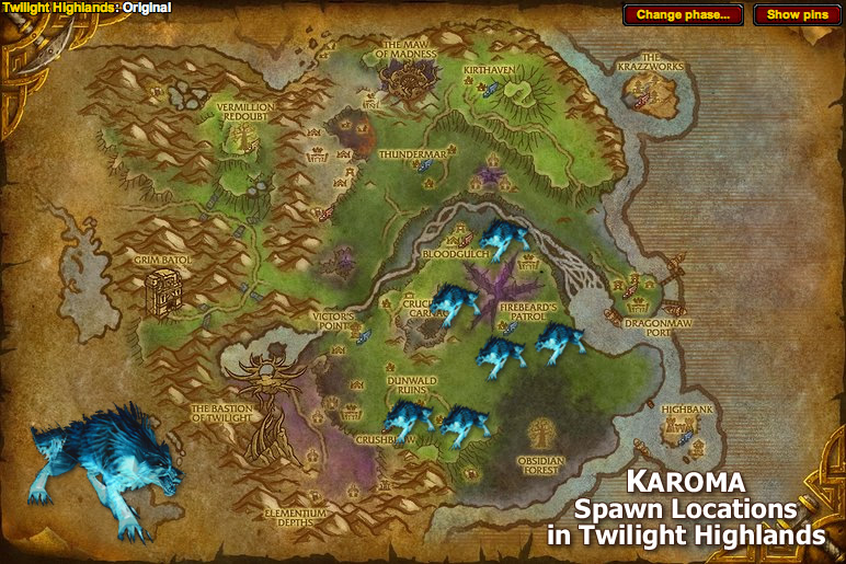 Karoma Spawn Locations Map