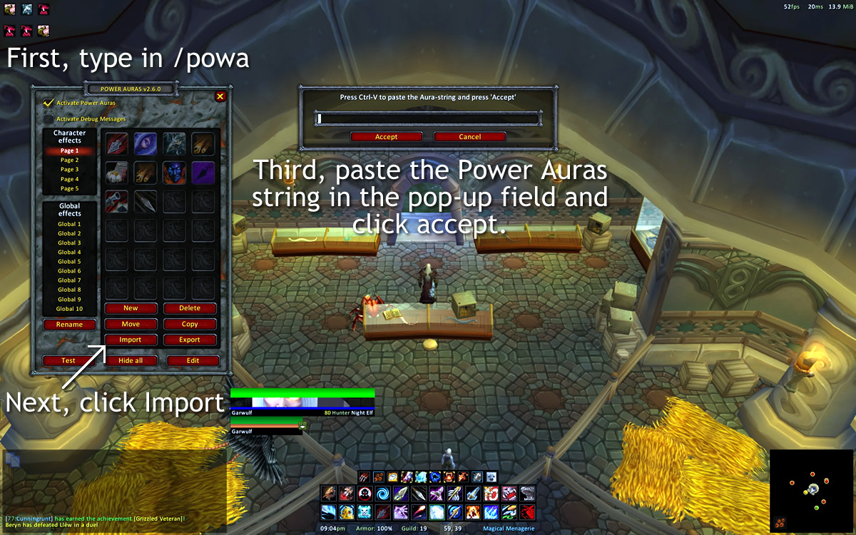 Power Auras Import