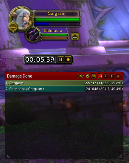 DPS meter with the Chimera