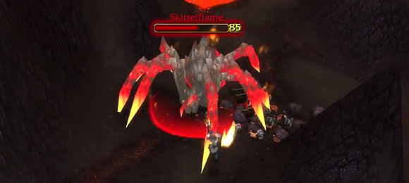 Skitterflame - Rare Lava Spider in Patch 4.2