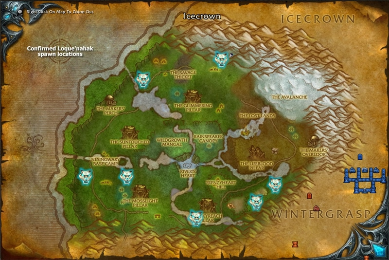 Loque'nahak Spawn Locations