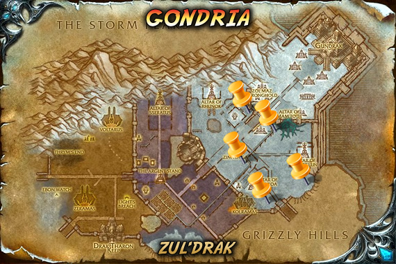 Gondria Map