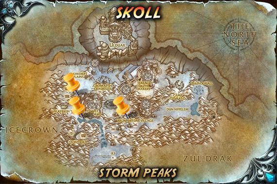 Spirit Beast Skoll Spawn Locations Map