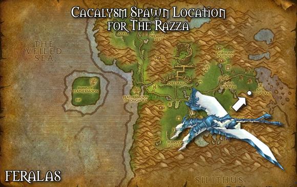 Map of Feralas - The Razza Spawn Location