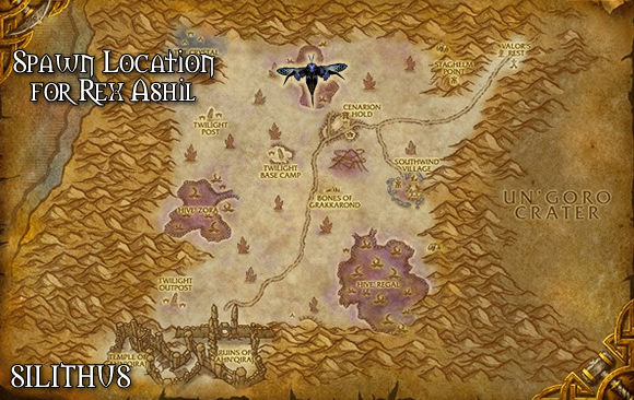 Rex Ashil Spawn Location in Silithus