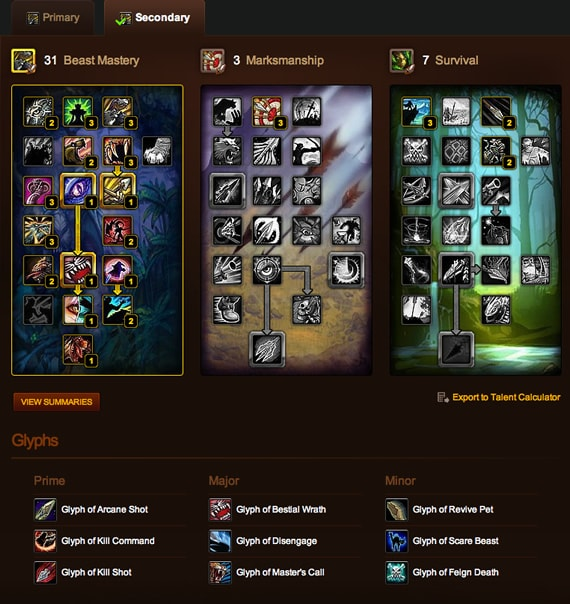 BM Hunter PvP Build - Cataclysm Patch 4.3