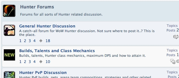 Hunter Forum Screenshot