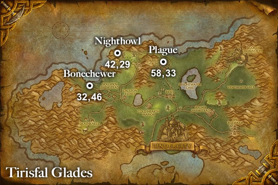Rare Ghost Pets Map - Tirisfal Glades