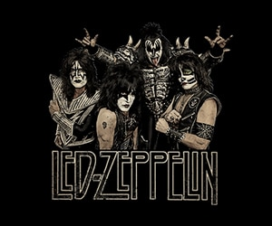 KISS Led Zeppelin T-shirt