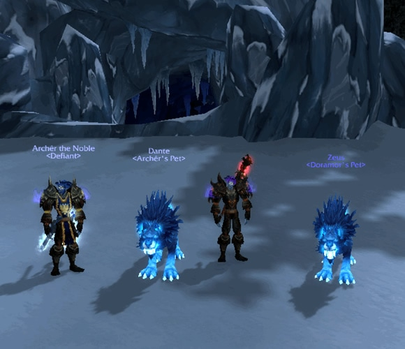 Doramor and Archer of Windrunner with their Skoll pets