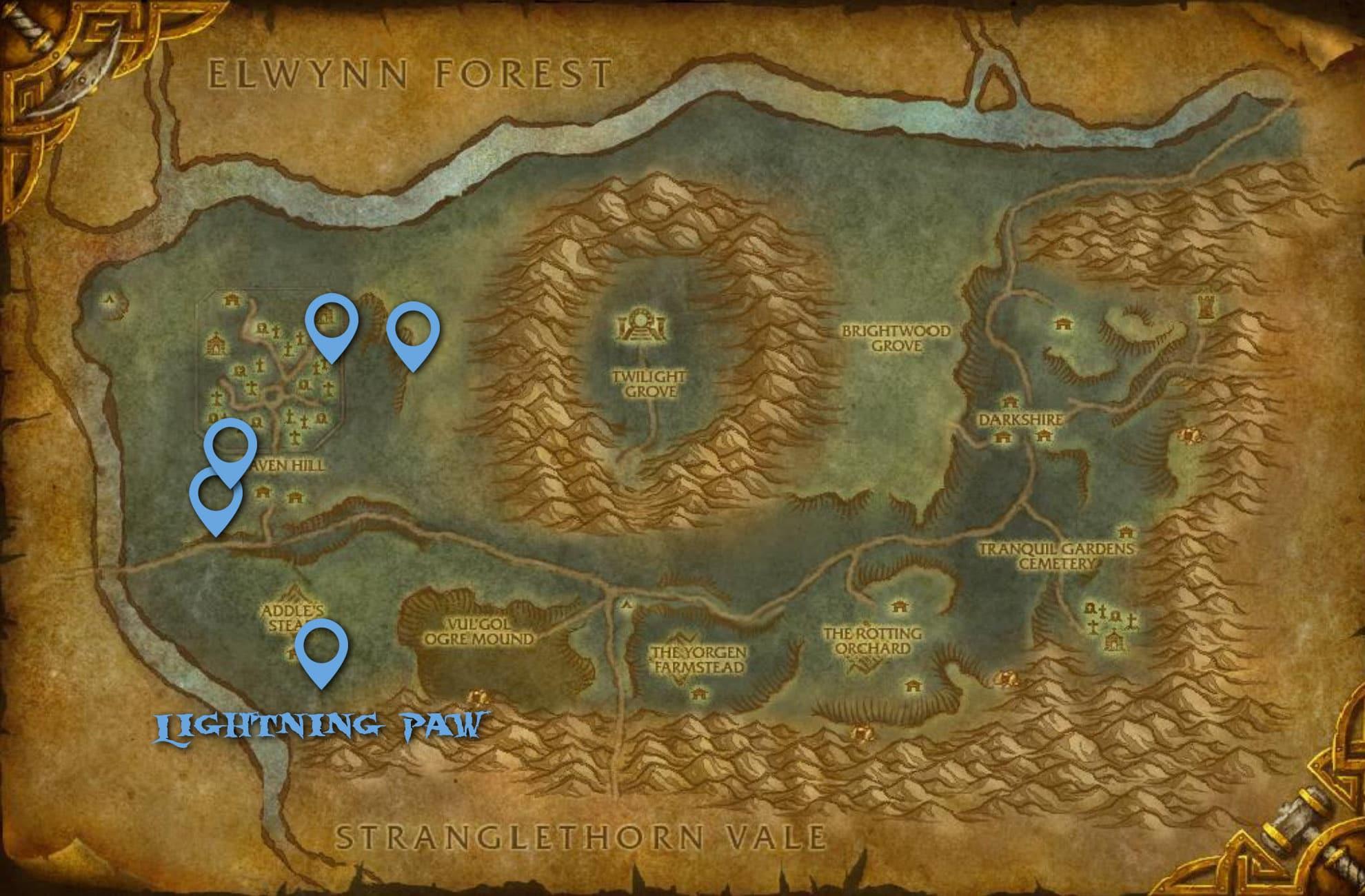 Lightning Paw Spirit Beast Map