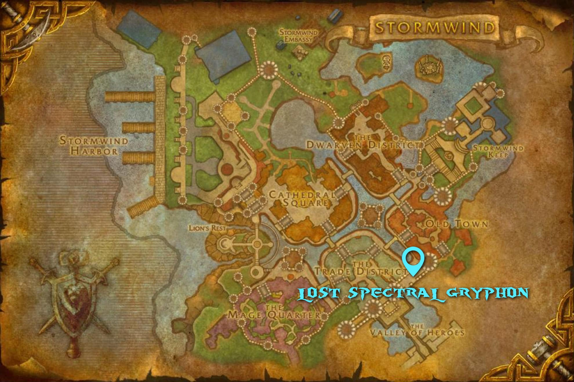 Lost Spectral Gryphon Spawn Location Map